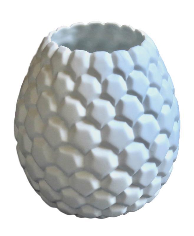 White Matte Porcelain Prism Vase   4.5dx7h  BUPRMS