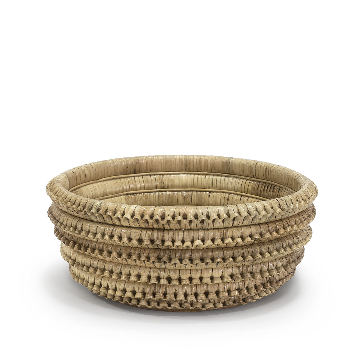 Braided Rattan Bowl   14.5d x 6h  P305901
