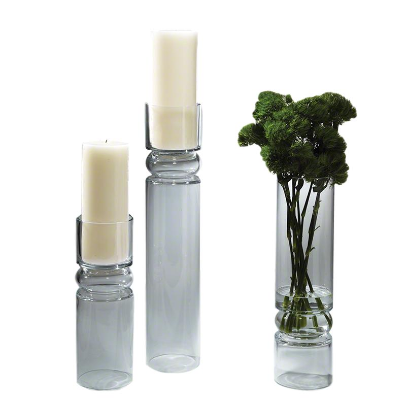 Glass Candle Stand/Vase  5dx24h   GV6.60216  5dx18h   GV6.60217  5dx14.5h   GV6.60218