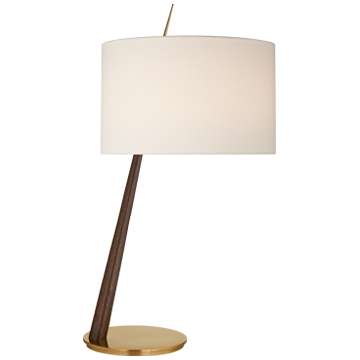 Angled Table Lamp in Dark Walnut and Soft Brass  VCBBL3090DW/SB-L  16wx17dx33h
