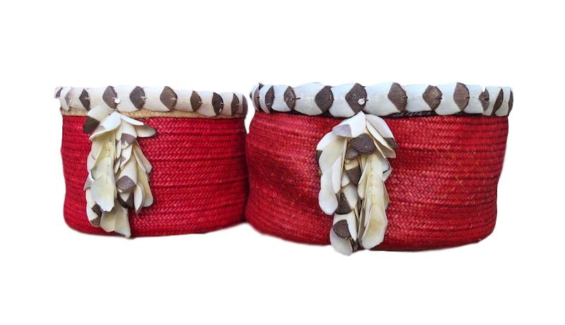 Piacaba Straw Basket Red    Small   17dx10h +/-   RLPABS  Large    20dx11h   RLPABL