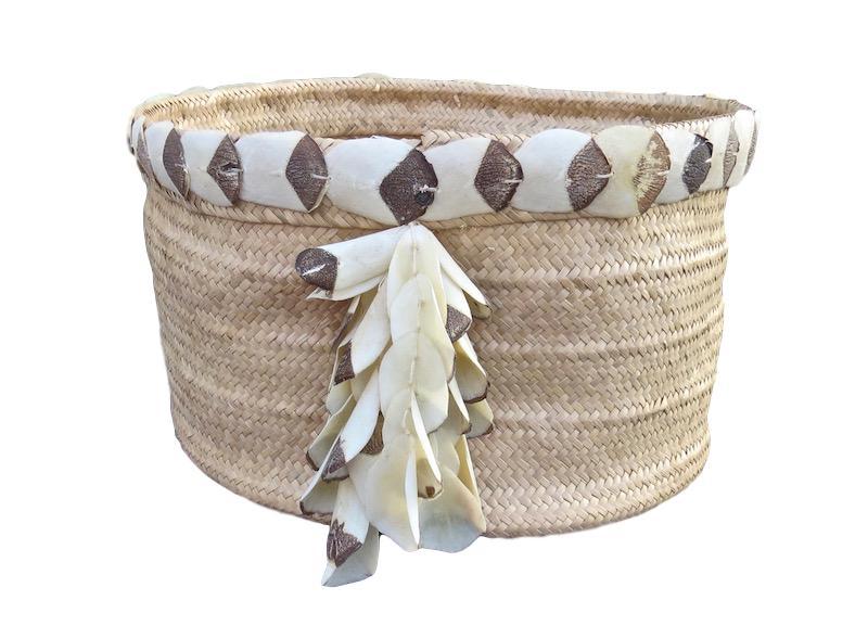 Piacaba Straw Basket Natural   17dx10h +/-  RLPABS