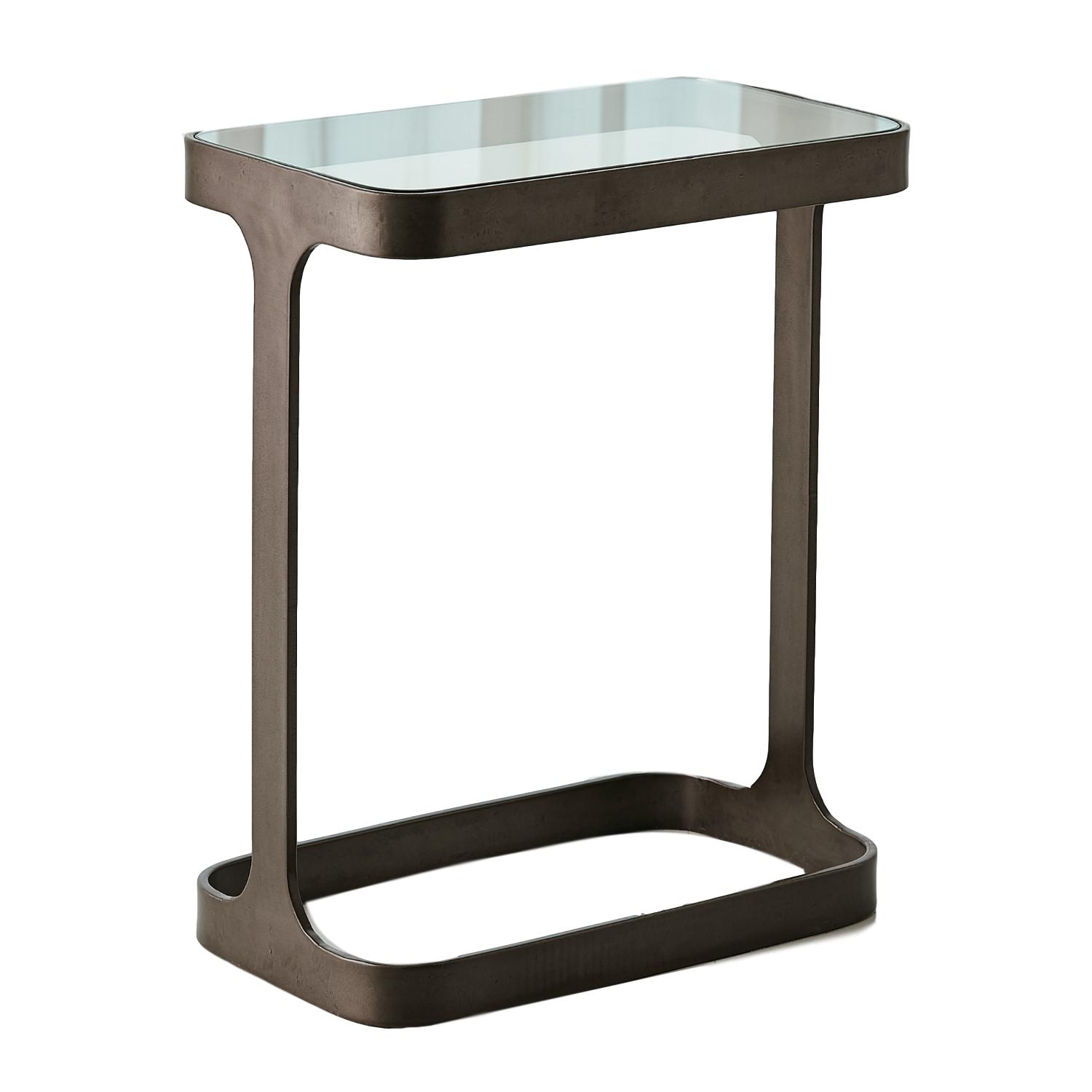 Saddle Table Antique Bronze/Glass   16x9.5x20h  GV7.90868