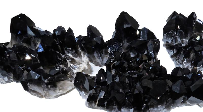 "Black Quartz Crystal Clusters  Assorted sizes   6"" - 12""wide   RC007 - RC010"