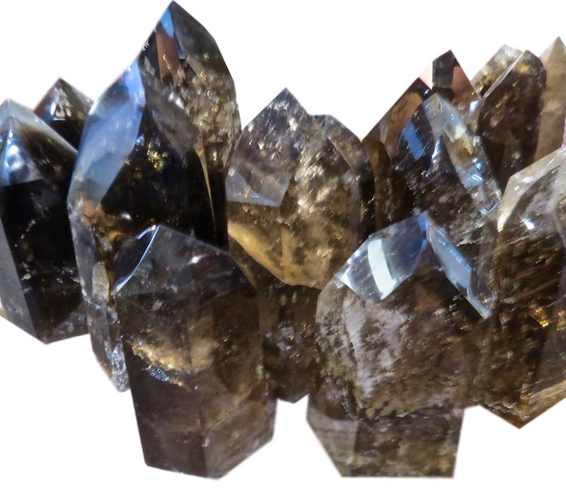 "Smokey Quartz Crystal Point  Assorted sizes  7"" - 14.5"" high  FOS452-472"
