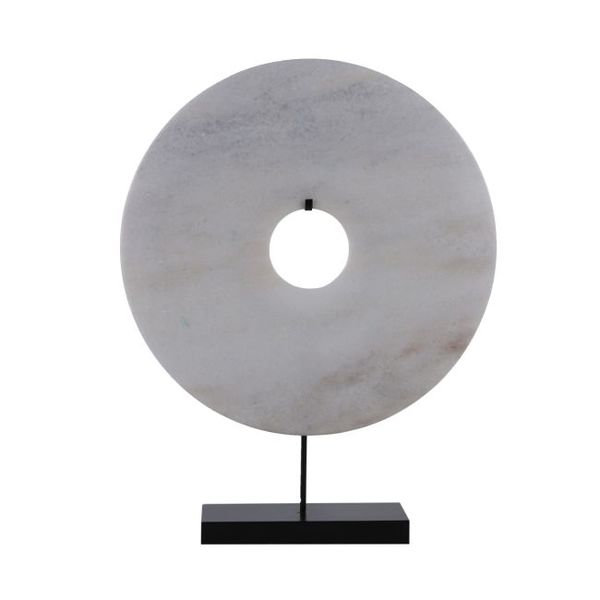 Stone Disc White/Stand  Medium   16x4x20h   OP068  Large   24x6x30h   OP072