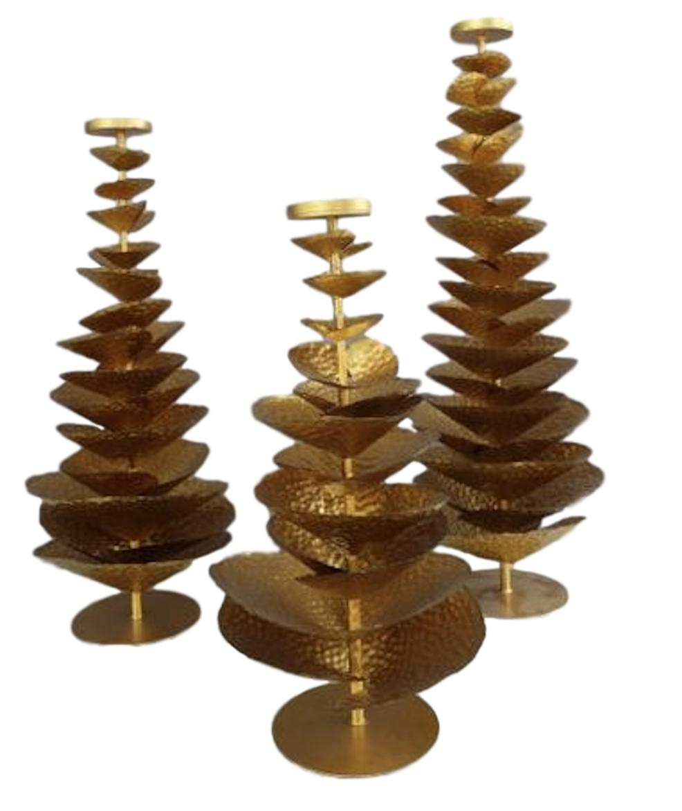 Large Gold Tree Candle Stand   Large   12dx36.5h   OP119  Medium   12dx31h   OP118  Small    12dx25.5h   OP119