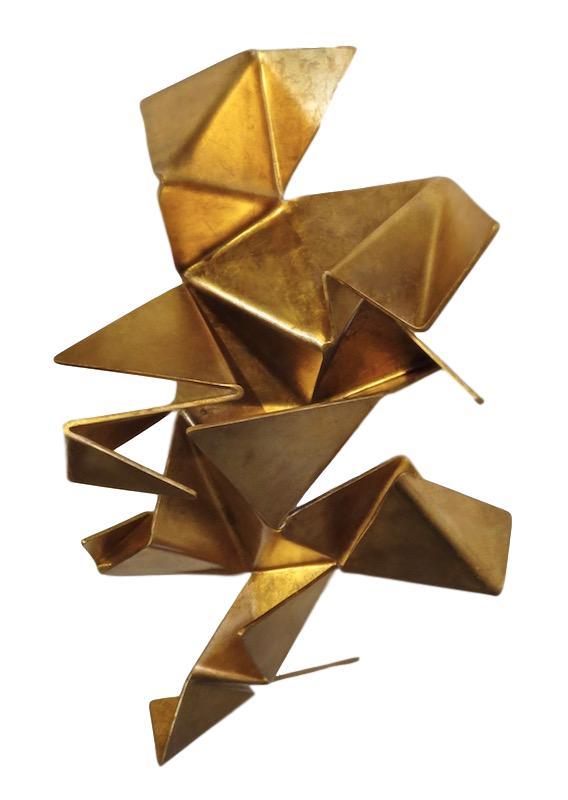 Iopomo, Origami, Gold or Silver, Polyurethane/Enamel Wall Construction   33.5x22x9  RLORG