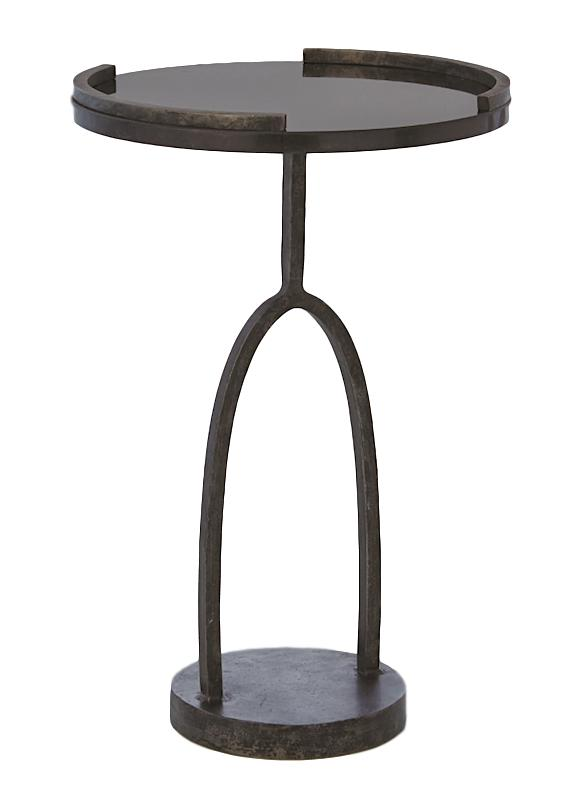 Wishbone Table Hand Forged Iron/Black Granite   14dx21h  GV7.80499