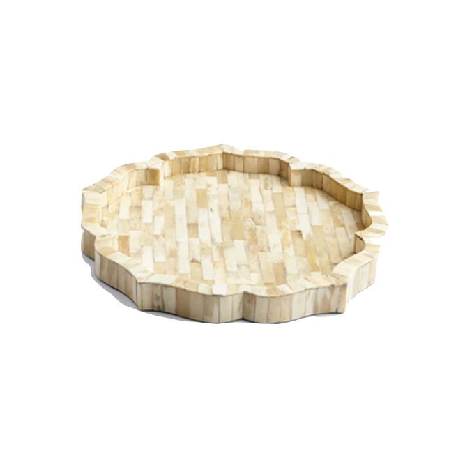 Round Bone Tray Natural   16dx1.5h  CD7221