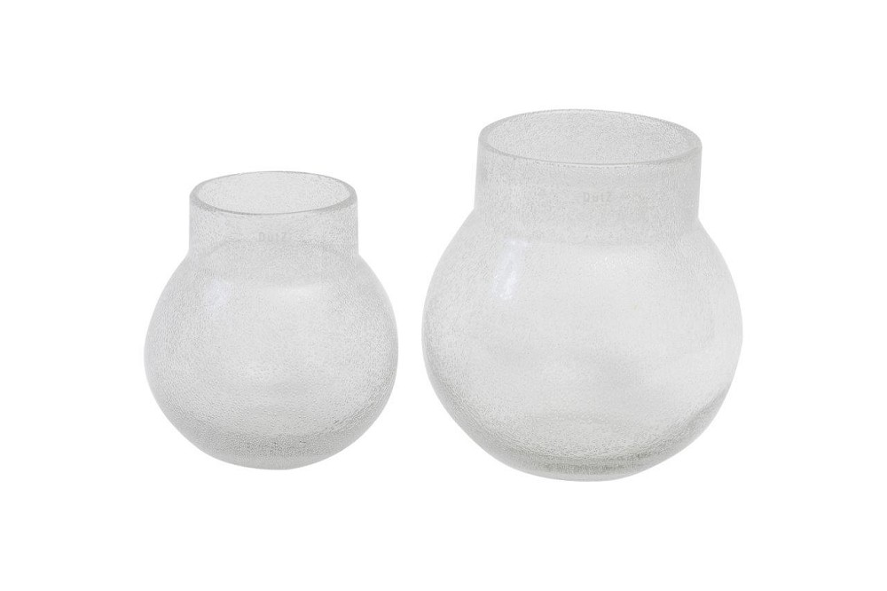 Big Mouth Bubble Glass Vase - Clear  Small   9.5dx9.5h  EU1472545  Large  12dx12h   EU1472546