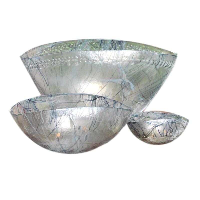Murano Blue Spark Bowl   Medium 16.5x11x9.5h  GV3.31144  Large 16.5x11x9.5h   GV3.31143