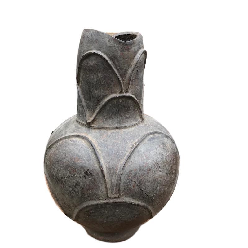 Vintage Mossi Ceramic Jar Burkina Faso   11dx22.5h +/-  AF233