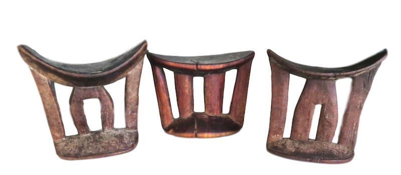 Antique Headrest, Ethiopia  6x3.5x6h+/-  AF127