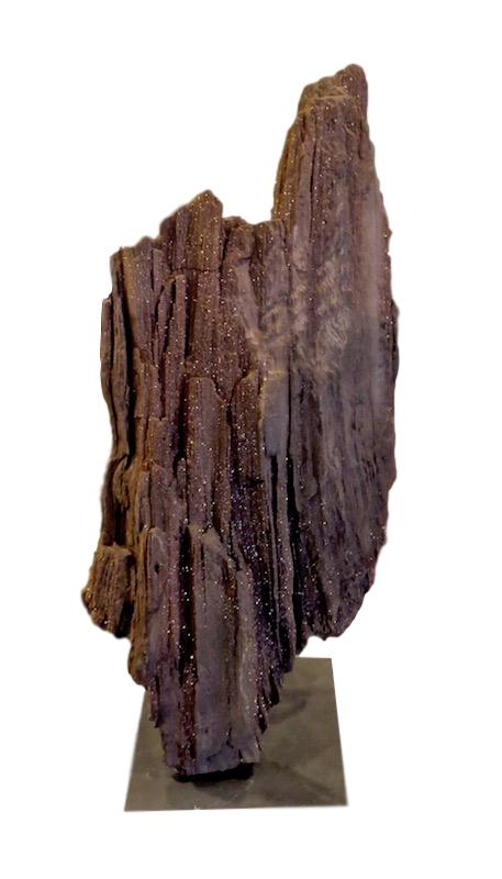 Permineralized Wood, Germany Triassic Period/Iron Stand   10x8x23.5h  FOS015AA