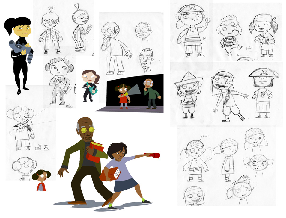 Character Concept Art for  WGBH Kids