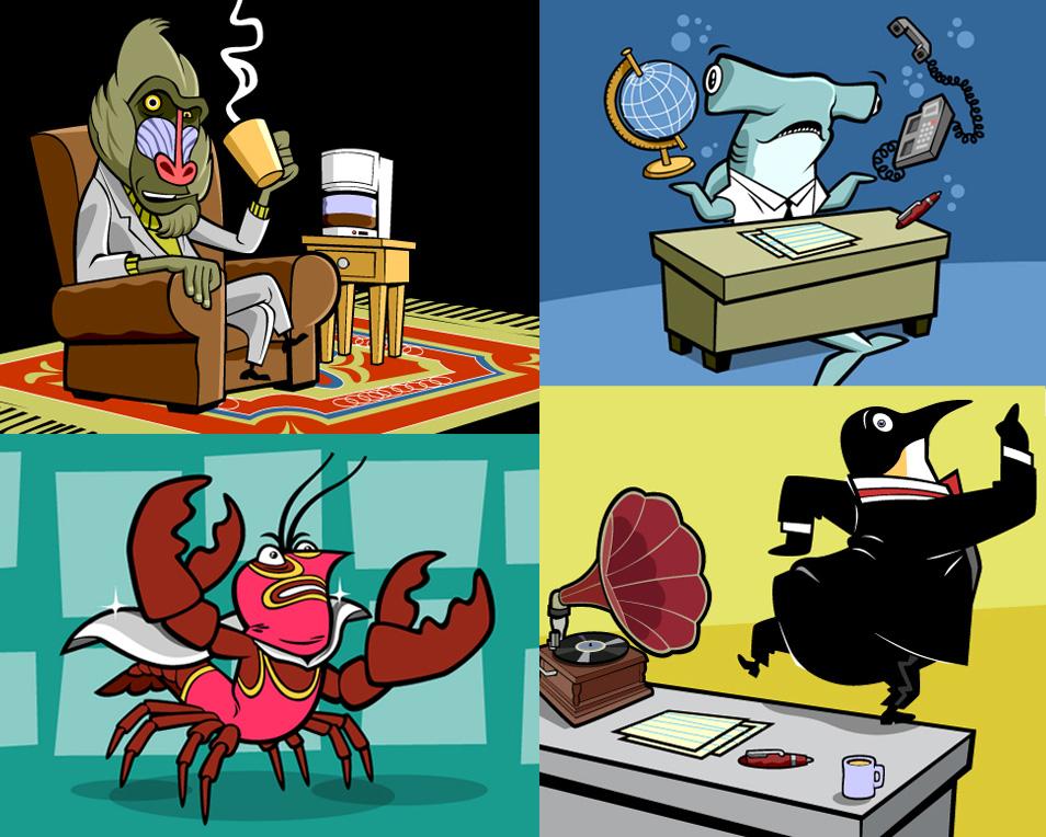 FFFBI  Character Art for  WGBH Kids