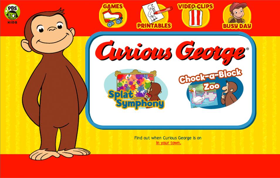 Curious George Website
