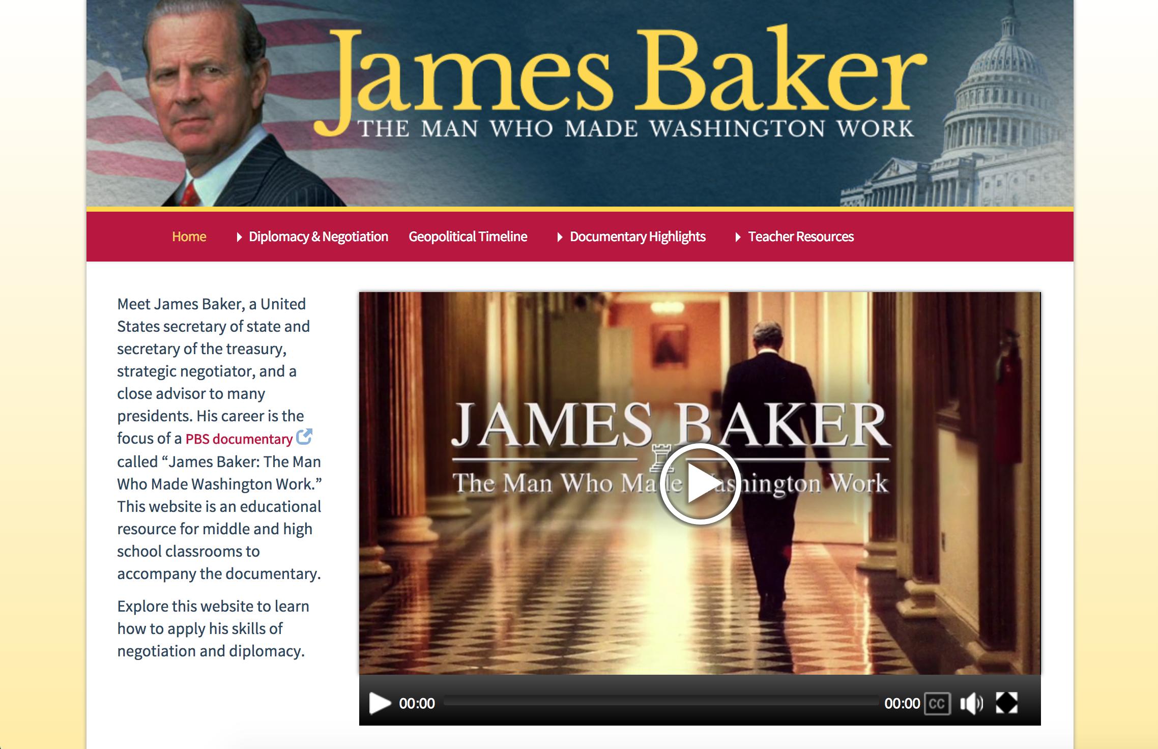 James Baker homepage