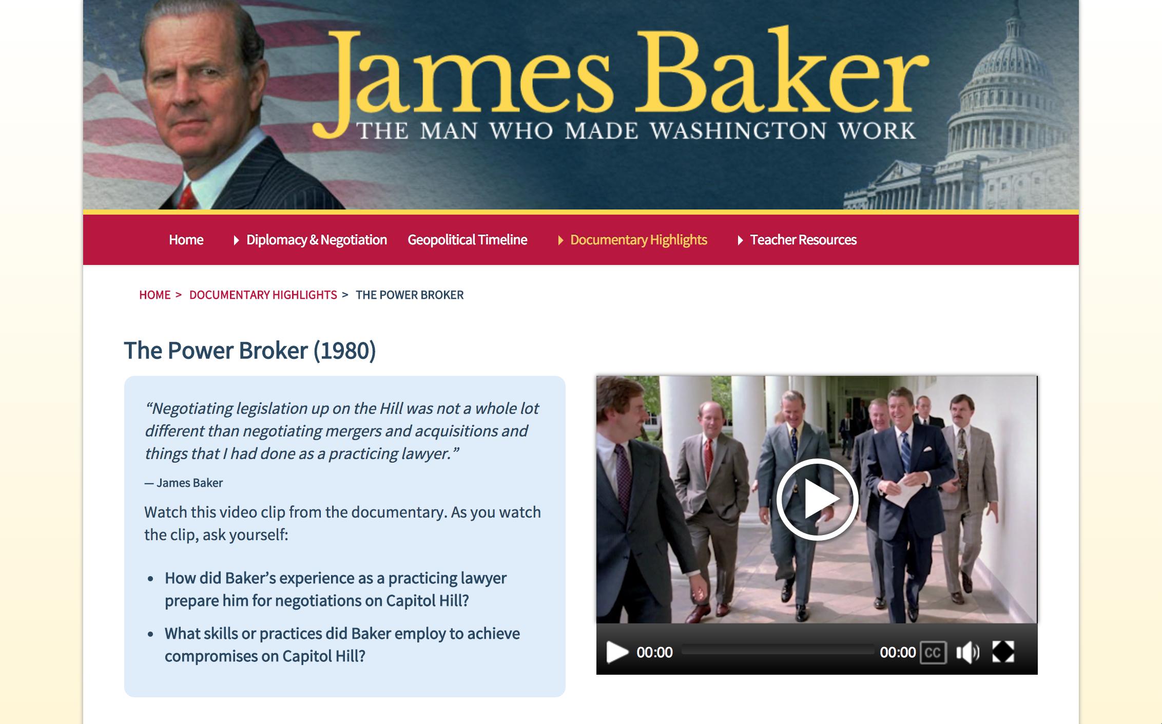 James Baker documentary highlights