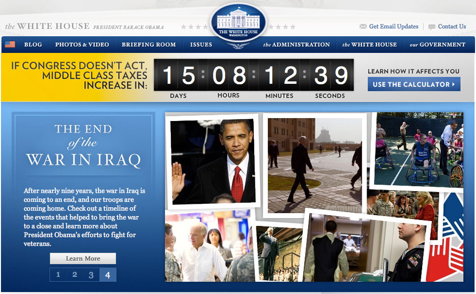 Takeover for the countdown clock, along with the Iraqi timeline hero