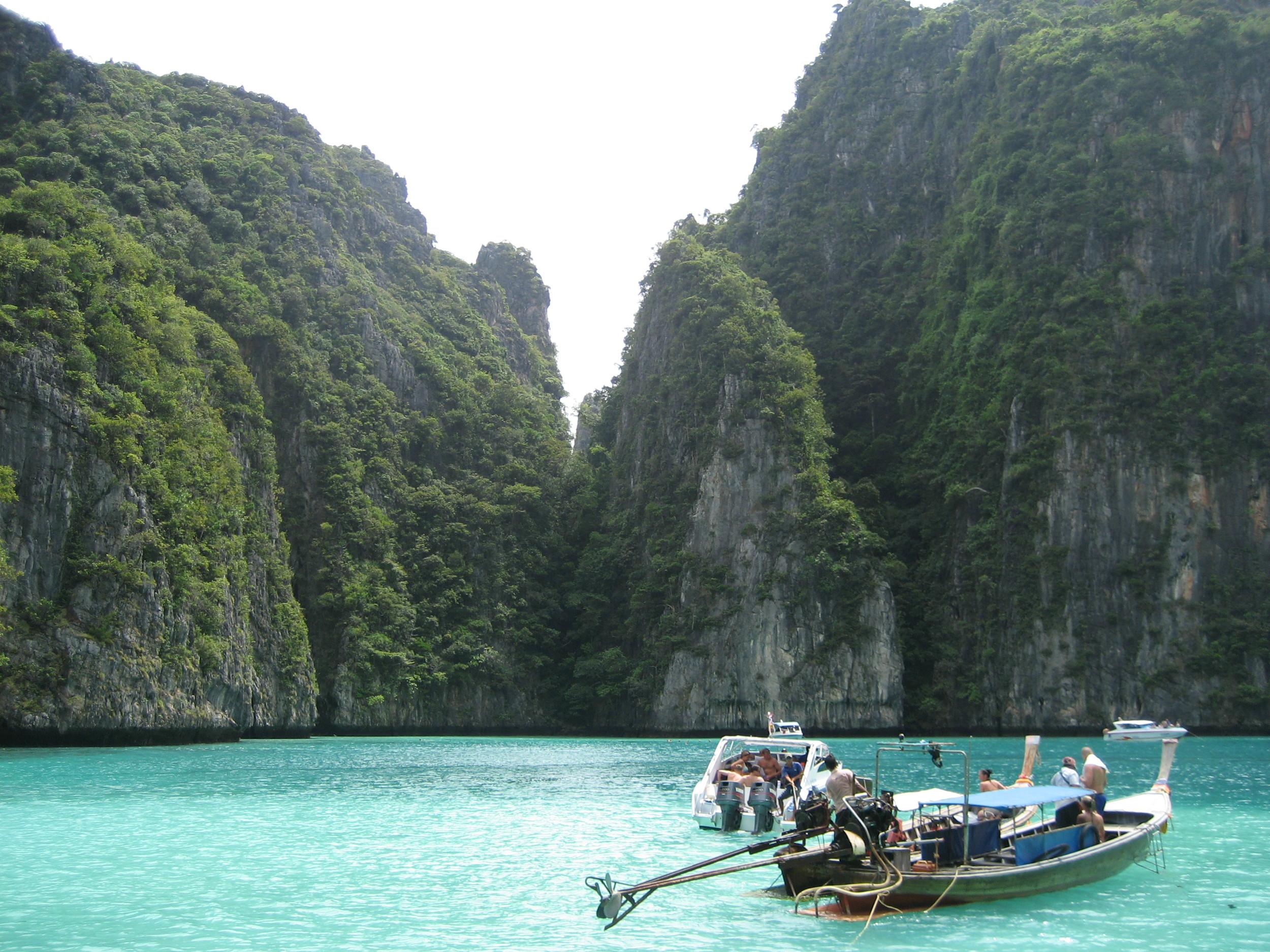On the way to Maya Bay, Phi Phi Islands, Thailand