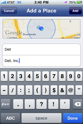 """How to add a """"place"""" on Facebook Places with iPhone app [PICS]"""