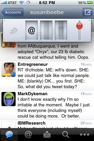"Tweetie app for iPhone releases new ""surprise"" feature! hmm Vegas slots [PIC]"