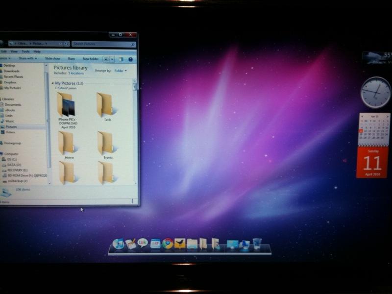 I just turned my Windows 7 into a Mac ... well, sorta :)
