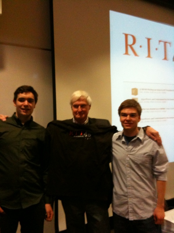 #RIT48 Day 2 with #RIT President Destler addressing entrepreneurial- minded students seeking to build their web startups in 48 hours! #ROC