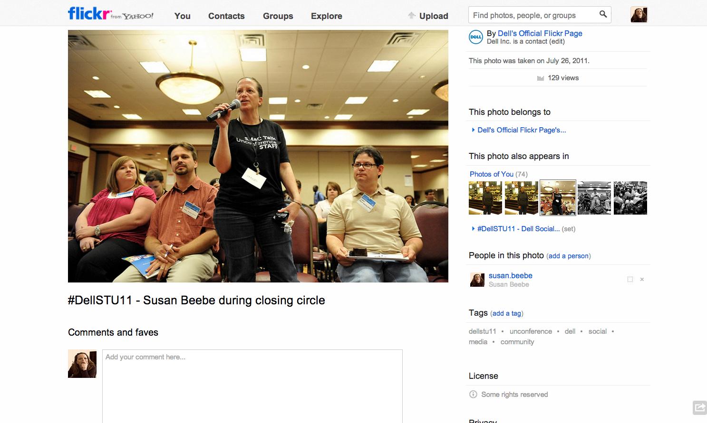 #DellSTU11 - Susan Beebe speaking during closing circle.png