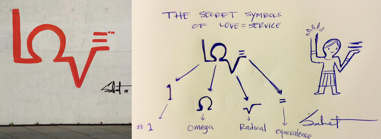SECRET SYMBOLS behind LOVE = SERVICE by Sabet