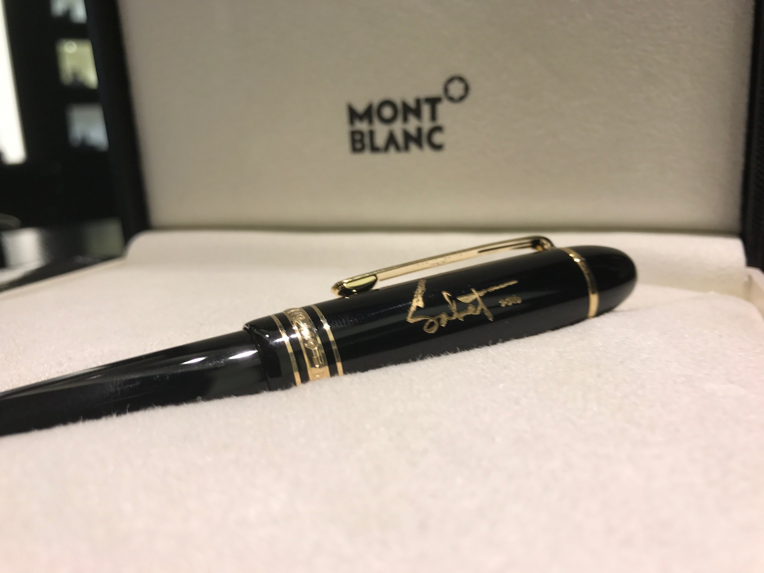 Available Now! 2016 Sabet Signature Montblanc Meisterstück Gold-Coated Classique Fountain Pen