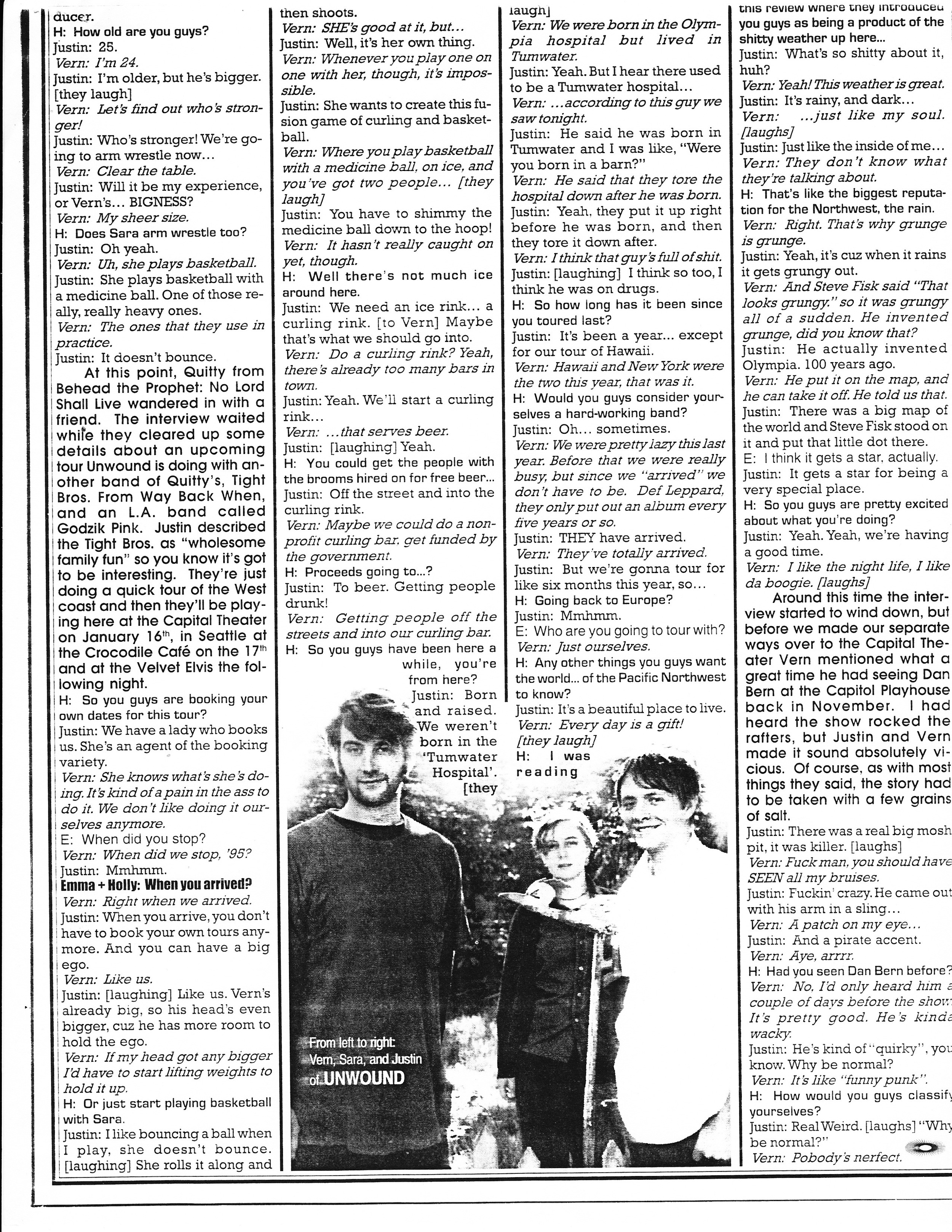 Axis Music & Media Dispatch Jan 1998 Interview with Justin and Vern. p.3
