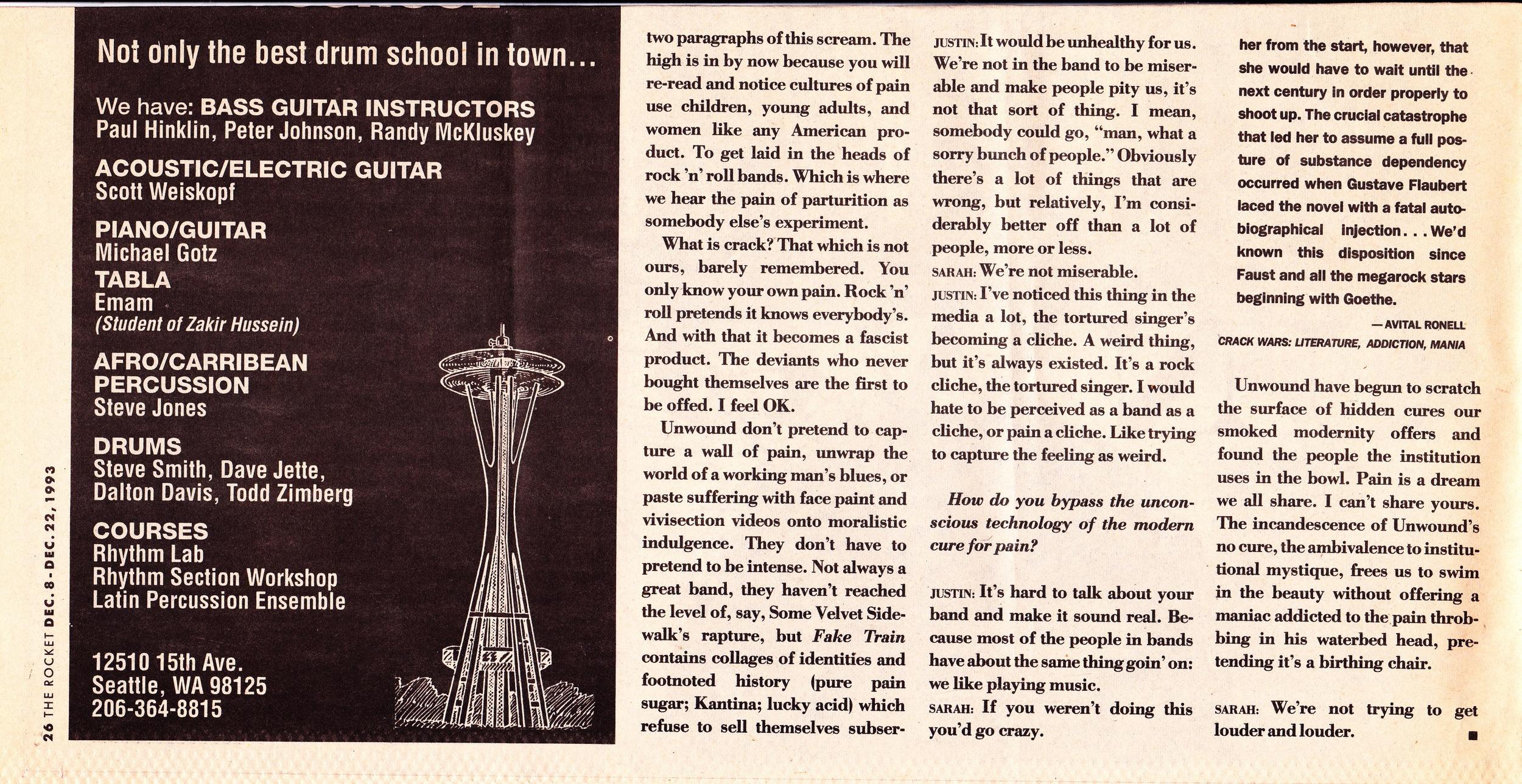 The Seattle Rocket Dec 1993 p.4 of 4