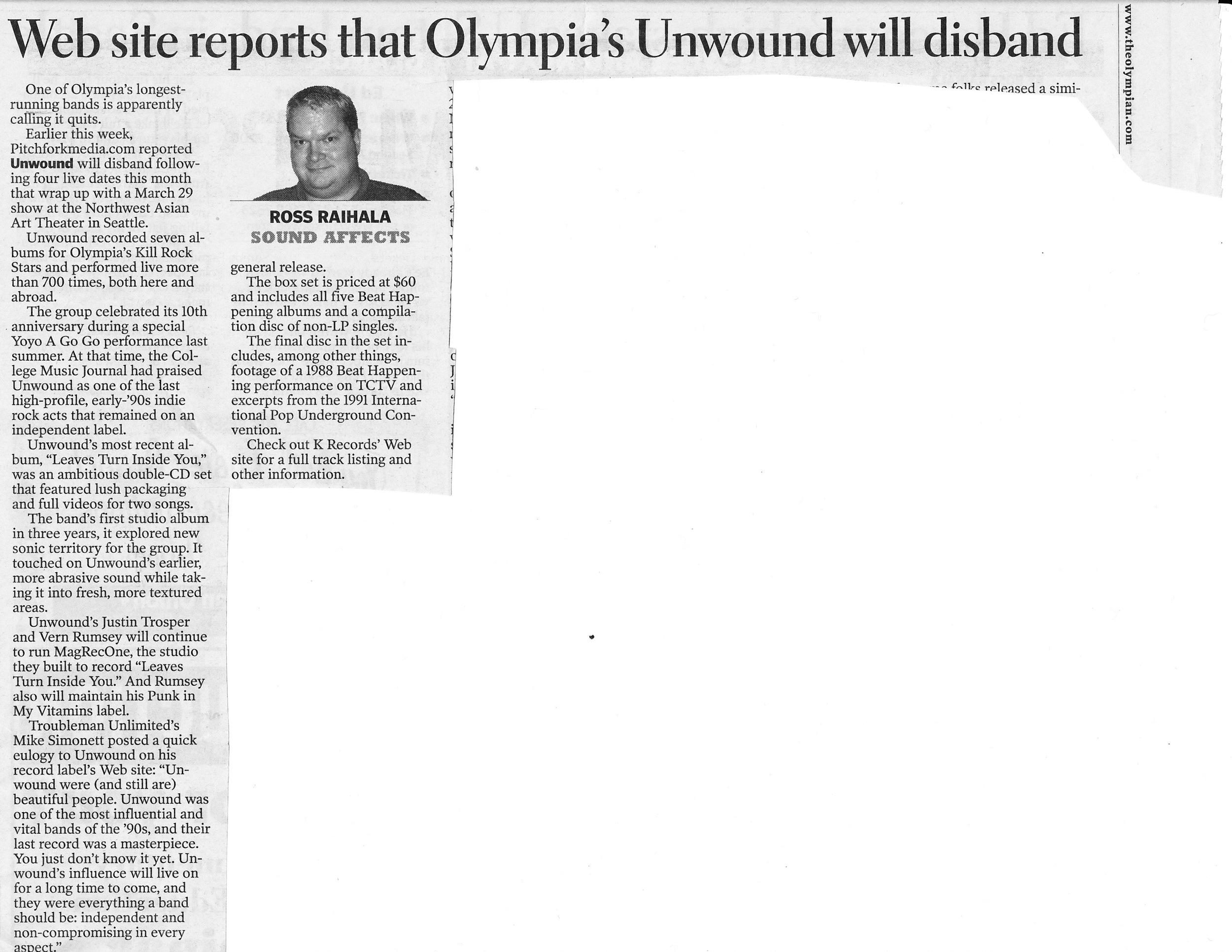 March 2002, The Olympian