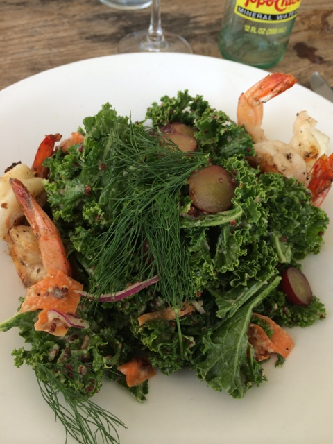 Raw Carrot and Kale salad