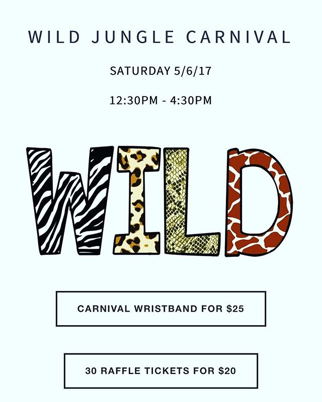 Don't miss the Westlake Hills Elementary🐍 WILD JUNGLE CARNIVAL❗ All proceeds benefit the Westlake Hills WildCats. Purchase your Wristband or Raffle Tickets Here ➡️ http://pgj.cc/NKPAZd