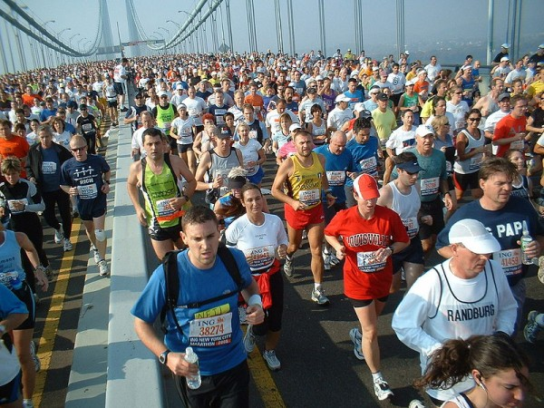 New York marathon Verrazano bridge