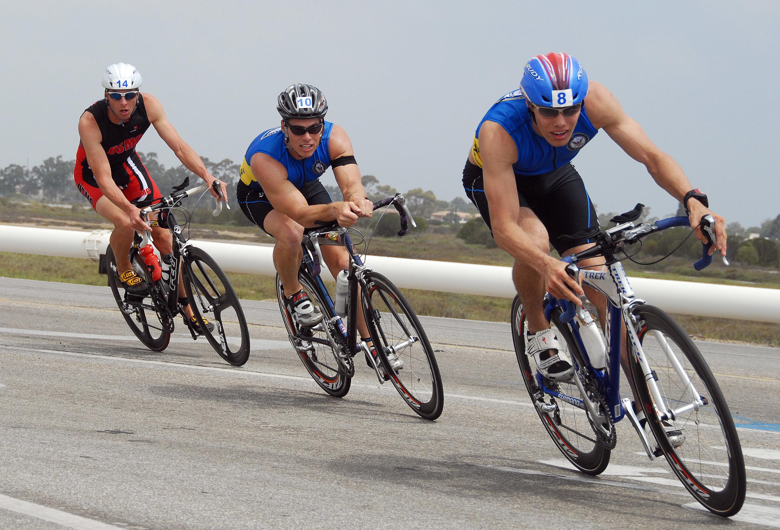 Two Navy Triathletes
