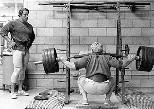 Arnold and Draper Squatting
