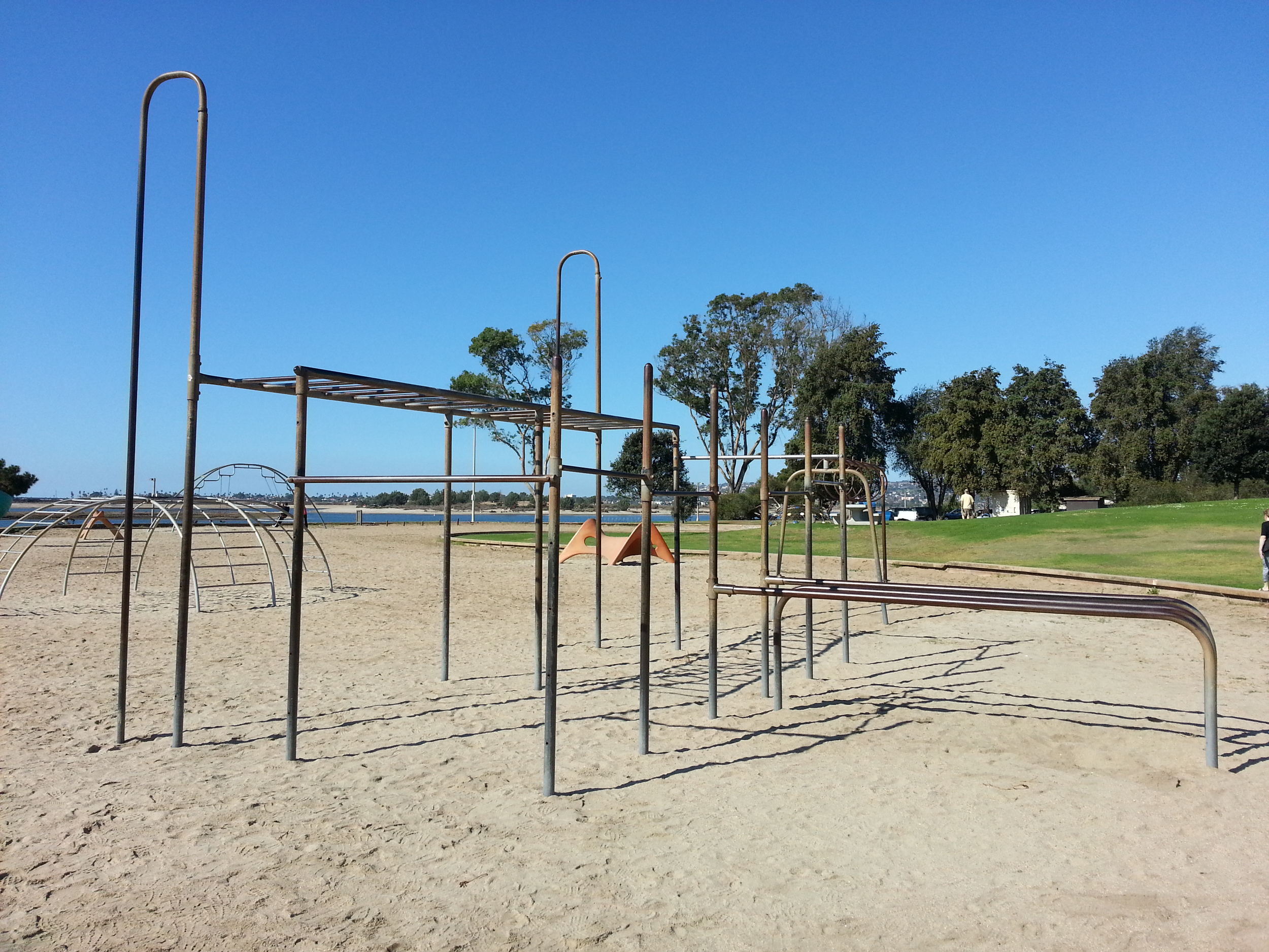 A great playground structure in Tecolote Shores Park by Mission Bay, San Diego, CA.