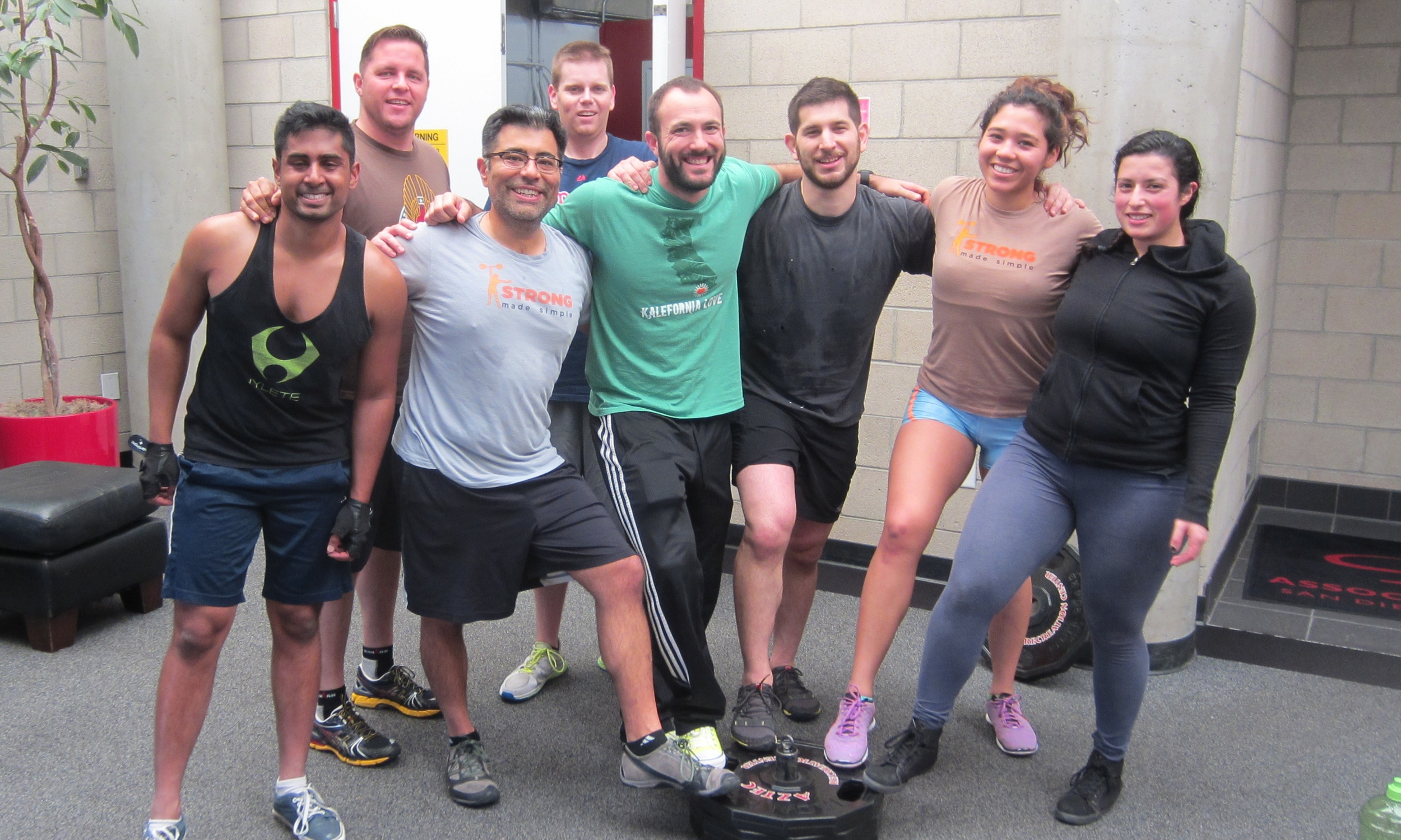 Strong Made Simple personal training clients after a fun and grueling Saturday sled workout in San Diego.