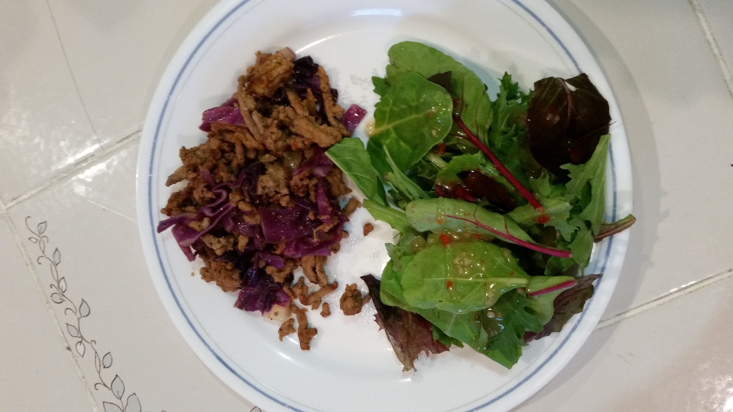 Indian Turkey and Cabbage Recipe plated