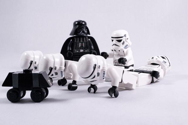 Push ups and sit ups for Darth Vader!
