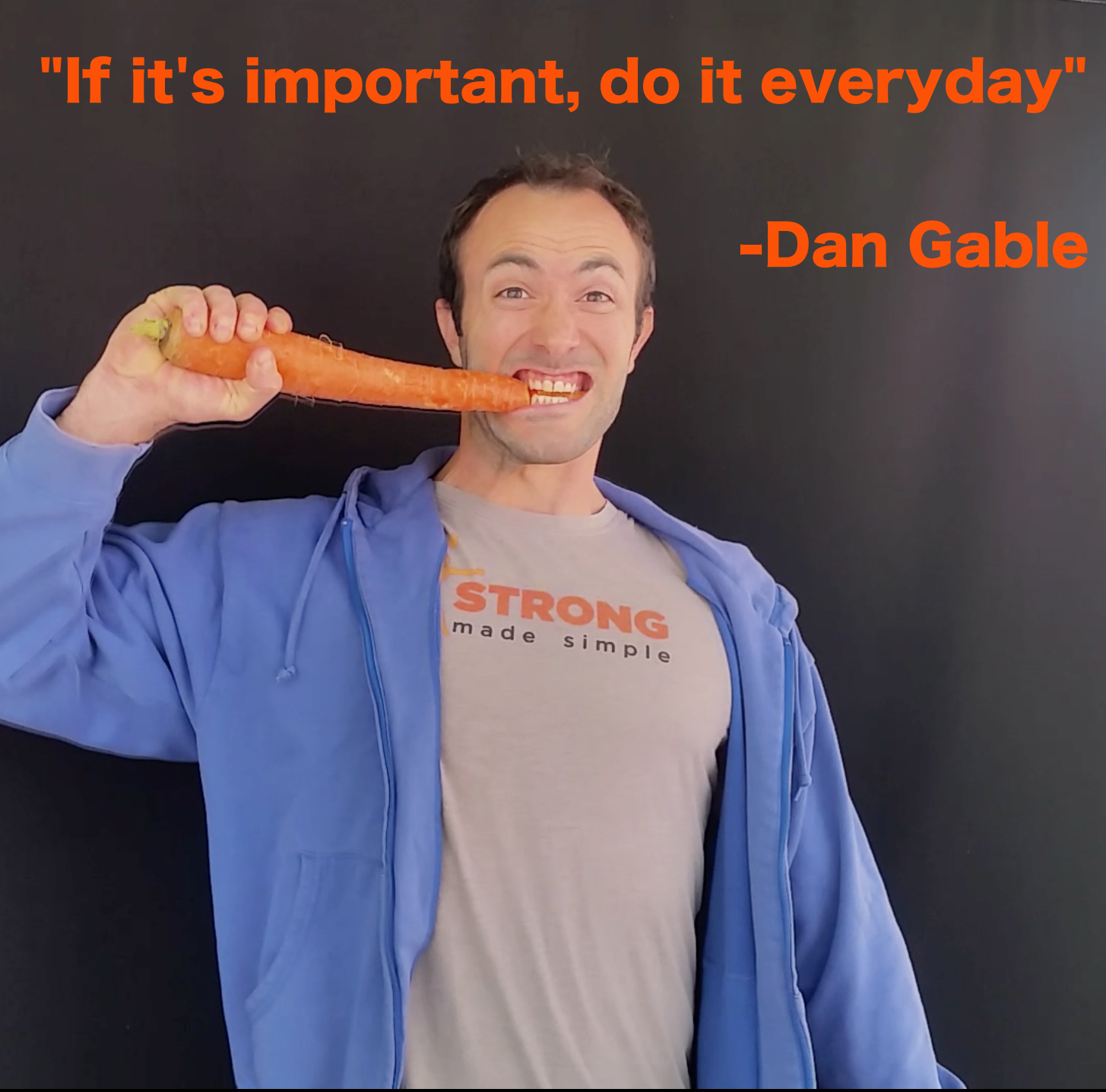 Personal Trainer Eating Carrot