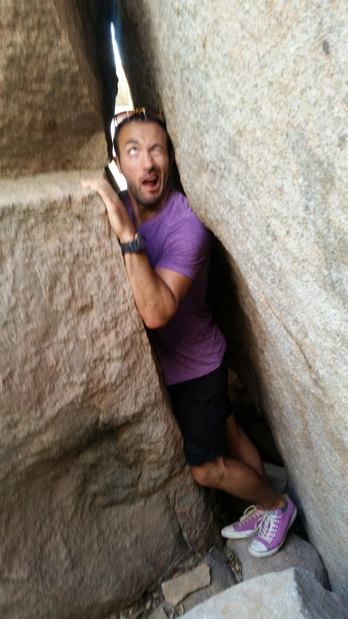 Squeezing Between Rocks