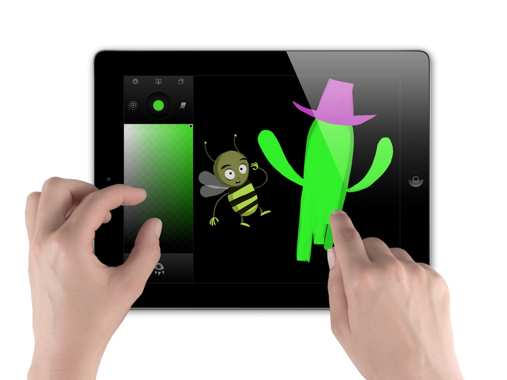 Tagtool painting mode. Image courtesy by  omai.at
