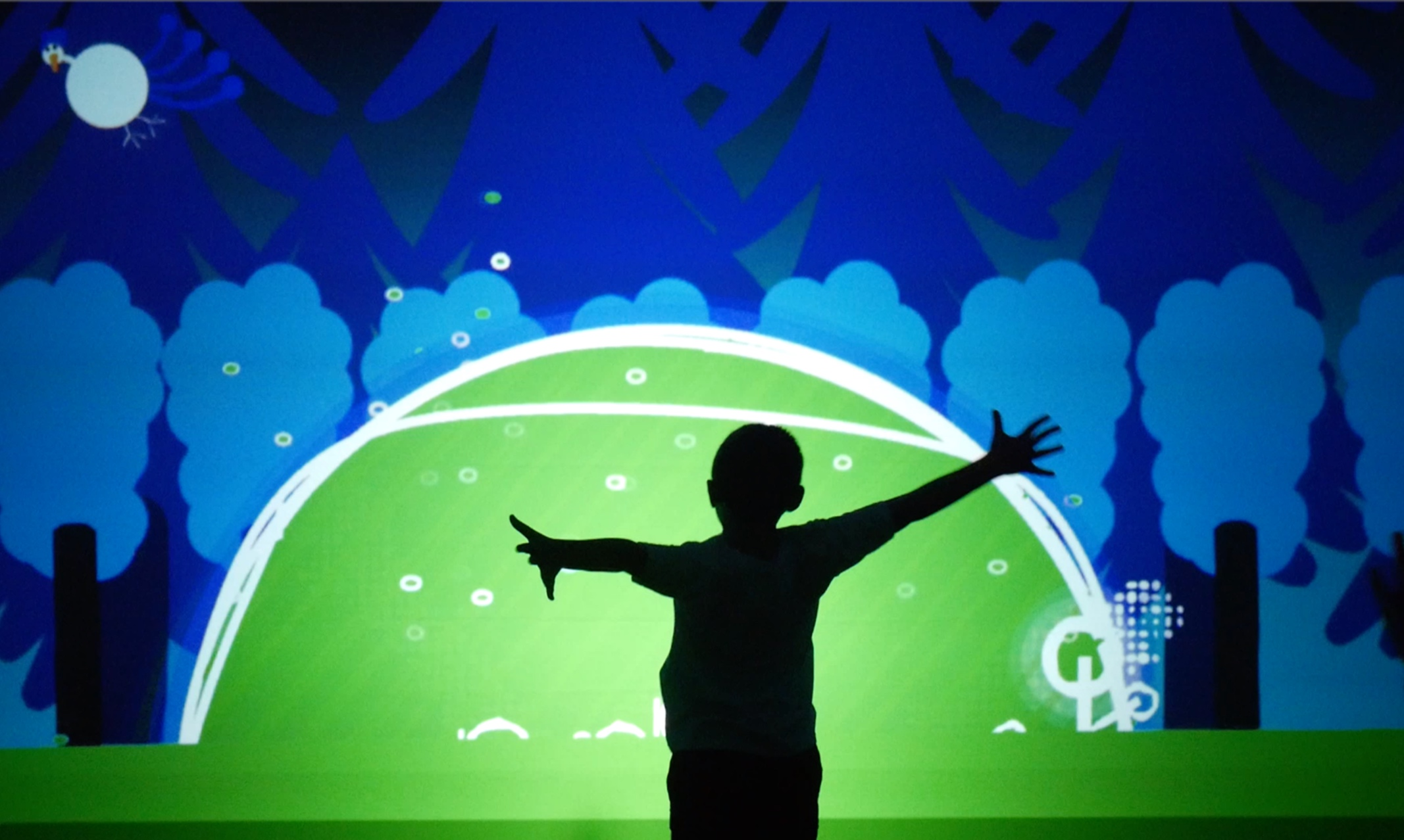 Magic Forest - An interactive tagtool installation for kids
