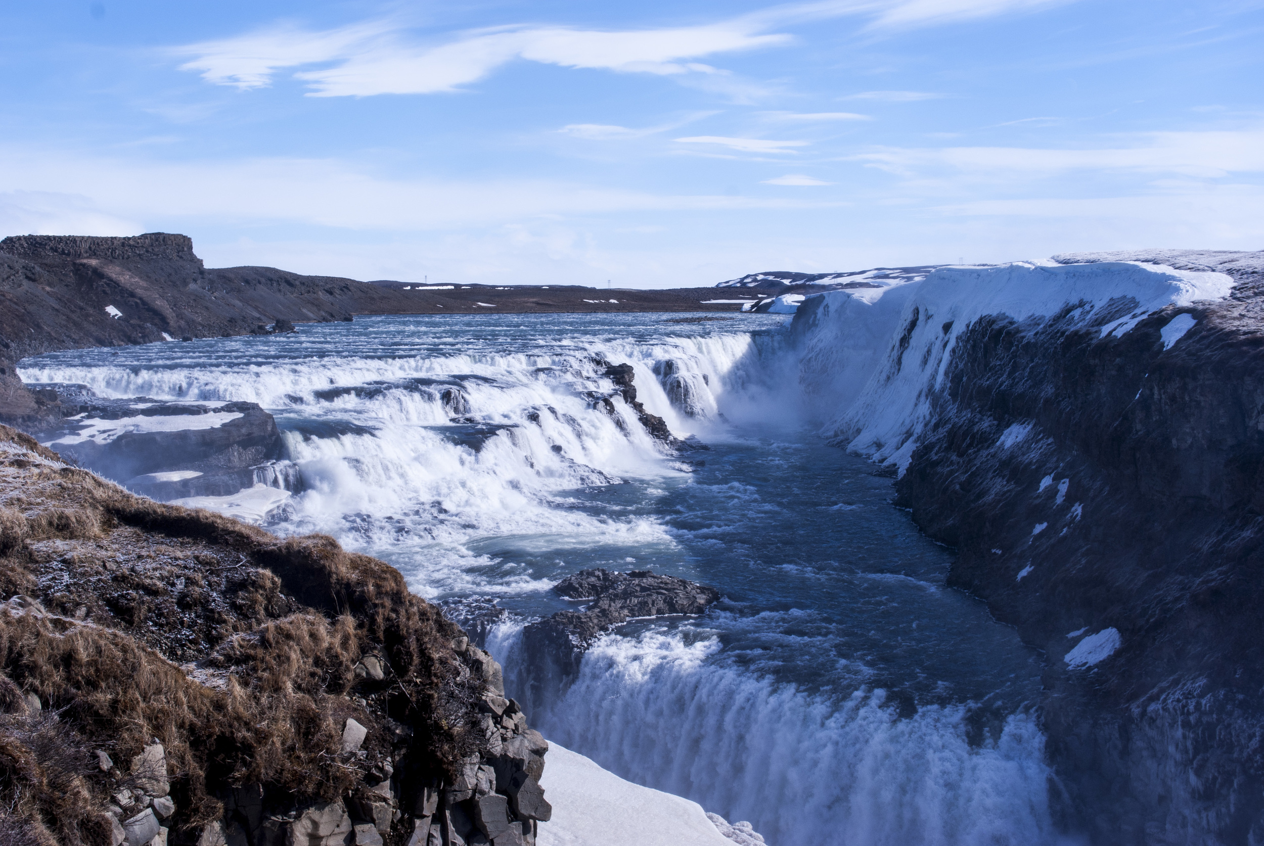 This waterfall, Gullfoss, was the most impressive to me!